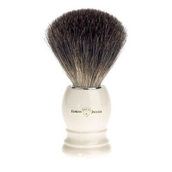 Edwin Jagger Ivory Black Best Badger Brush Round