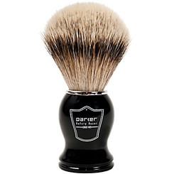 Parker Black and Chrome Silver-Tip Pure Badger Shaving Brush