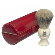 Kent Shaving Brush Pure Silver-Tipped Badger Brush BK2 Medium