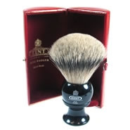 Kent Shaving Brush Pure Silver-Tipped Badger Brush BLK8 Large
