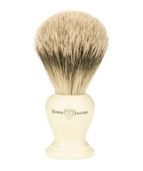 Edwin Jagger Medium Ivory Horn Super Badger Brush