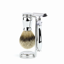 "Edwin Jagger Chatsworth ""Plain"" Three-Piece Luxury Shaving Set"