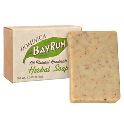 Dominica Bay Rum Herbal Soap 4oz  (3 Pack)