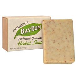 Dominica Bay Rum Herbal Soap 4oz  (3 Pack)