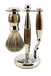 Edwin Jagger Luxury Tortoise Shaving Set Mach 3