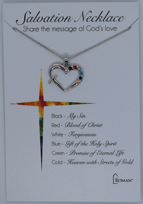 Silver Salvation story necklace