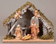 "Fontanini Musical Wedding Gift Nativity - Stable and 5 Figures - 5"" Collection"