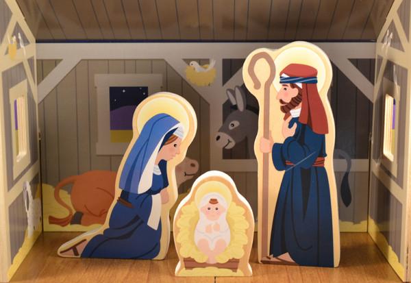 Wood Nativity Set For Children By Melissa Doug