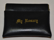 Lisa's Catholic Treasures, HJ Sherman, black squeeze top rosary case