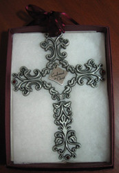 Confirmed in Christ Filigree Pewter Wall Cross