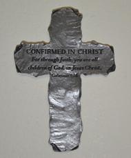 Pewter Slate-Look Message Cross - Confirmed in Christ