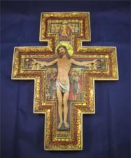 "San Damiano Wall Crucifix, in relief - 10.5"" by Joseph's Studio"