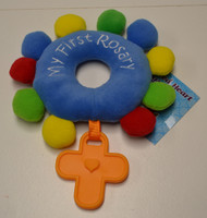 My First Rosary Plush Teething Toy, Blue, from Sacred Heart Toys