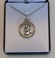 "St. Christopher Round, Open Medal, 3/4"" in Diameter"