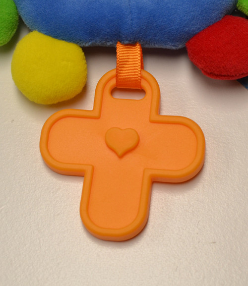 Teething cross on My First Rosary