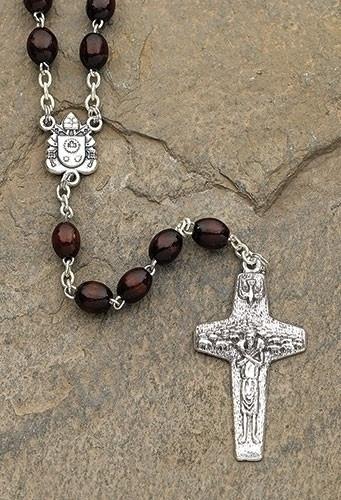 Walnut Pope Francis Rosary