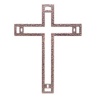 Biblical Steel Nazareth Cross with Nails, 6""