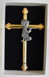Praying boy cross