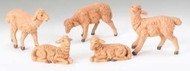 "Fontanini - Brown Sheep Set of 5, for the 5"" Collection"