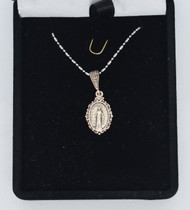 16in chain Miraculous Medal-front