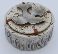 """Confirmed in Christ Rosary Box with Dove, 2.5"""" Diameter"""