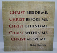 Christ Beside Me Plaque-front