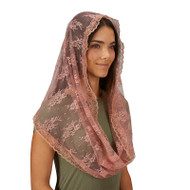 Rose Infinity Chapel Veil for adults