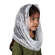 Child's white infinity chapel veil
