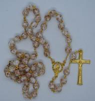 Lisa's Catholic Treasures, Contreras, white luminous rosary, lit