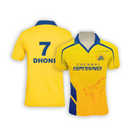 Chennai Super Kings Bleed Yellow Jersey Dhoni #7 - Front and Back