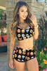 BrytCouture Emoji Print Two-piece Bikini Beachwear Set