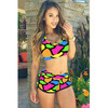 BrytCouture Sexy Patchwork Print Two-piece Bikini Beachwear Set
