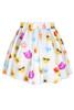 BrytCouture Limited Edition High Waist Emoji Mini Skirt - White