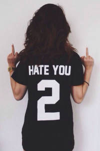 Hate You 2 Unisex Short Sleeves T-Shirt - Black