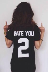 Hate You 2 Unisex Short Sleeves T-Shirt - Black