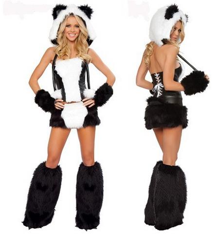 Adult Panda Sexy Women Party Animal Halloween Costume