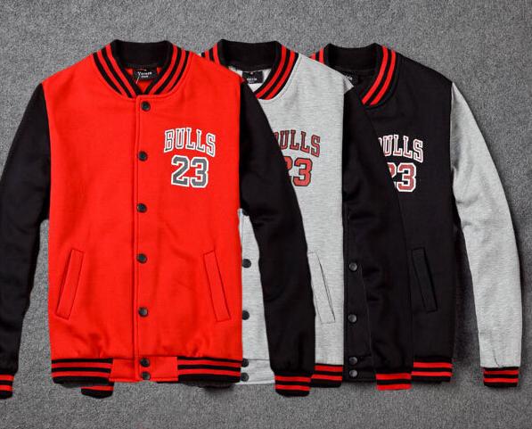 new product f0072 c4b6a BrytCouture Unisex Baseball Jordan 23 Bull Sweater - Red, Grey and Black