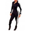 BrytCouture Casual Long Sleeves One-piece Skinny Jumpsuit - Black