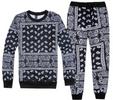 Unisex Paisley Bandanna Hip Hop Sweatpant And Sweatshirt Set