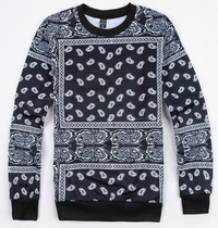 BrytCouture Unisex Paisley Bandanna Hip Hop Sweatshirt