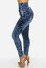 BrytCouture High Waist Button Fly Blue Denim Skinny Pants