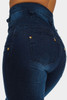 BrytCouture Casual Button Fly Design Blue Denim Skinny Pants
