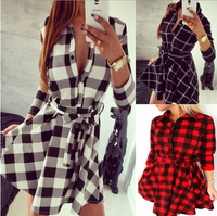 BrytCouture Vintage Plaid Women Mini Dress