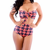 2 Piece Strapless High Waist Monokini Push Up Swimsuit