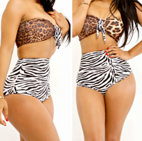 Retro High Waist Push Up Bikini Bathing Suit