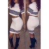 BrytCouture Sexy Short Sleeves Top and Bottom Two-piece Set