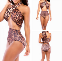 Halterneck High Waist Swimwear
