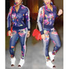 BrytCouture Mandarin Collar Floral Print Polyester Two-piece Set