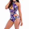 Hollow Out Colorful High Waist Bikini Swimwear