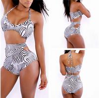 Zebra Print 2 Piece Bikini Swimwear